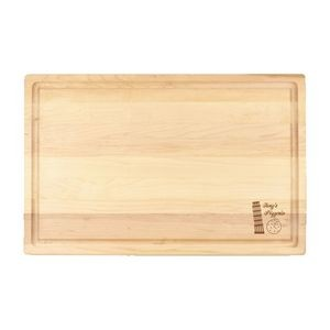 "11"" x 17"" Maple Cutting Board with Juice Groove"